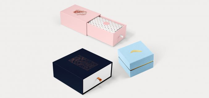 Die-cut boxes for small stuff: